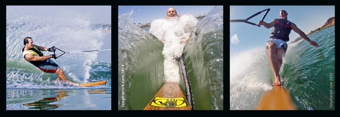 140814 Paling Wood Plank Wacky Water Skiing Klarich