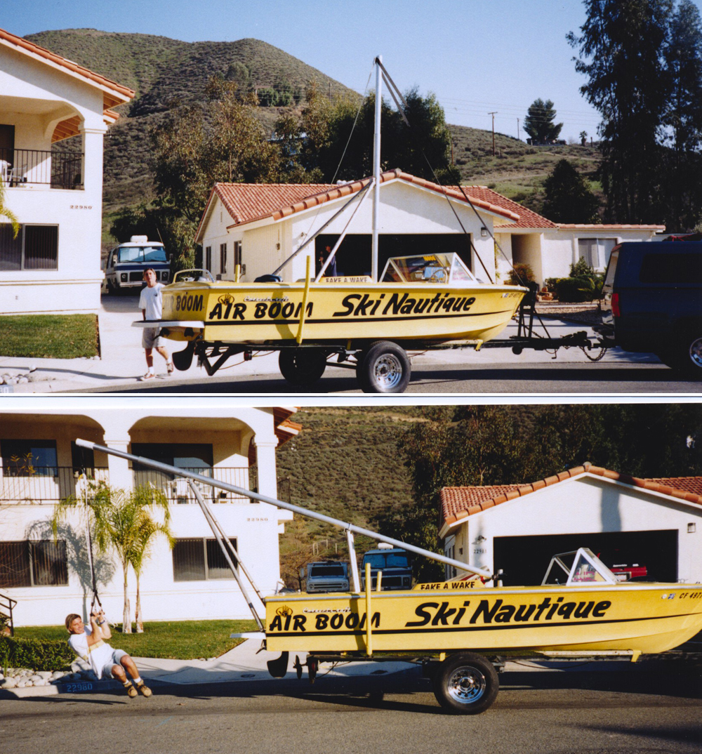 Gutsy air chair flip over dock mike murphy on hydrofoil waterskiing - Adventures Water Skiing Hydrofoiling 1998 Tall Air Boom