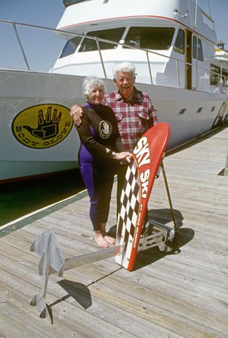 350 Grrandma grandpa body glove boat