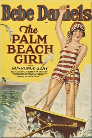 Palm Beach Girl movie poster starring Bebe Daniels on aquaplane
