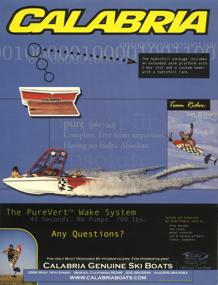 calabria boats ad PureVert Wake System Mike Murphy