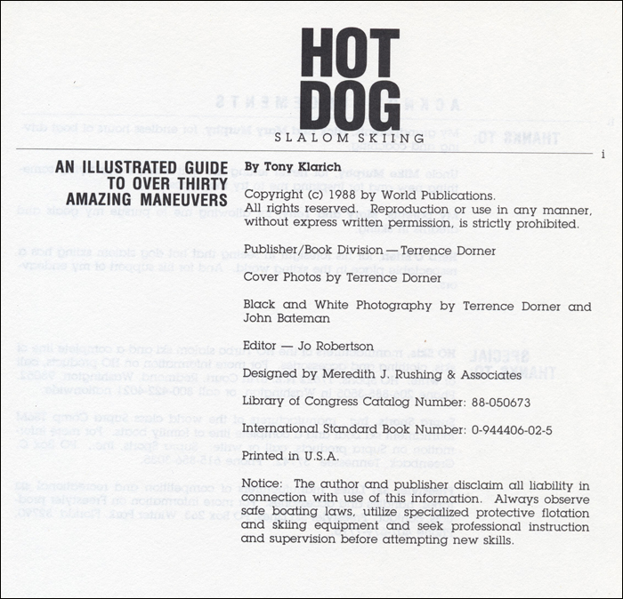 000i Hot Dog Slalom Skiing Book Klarich How To Disclaimer 770x