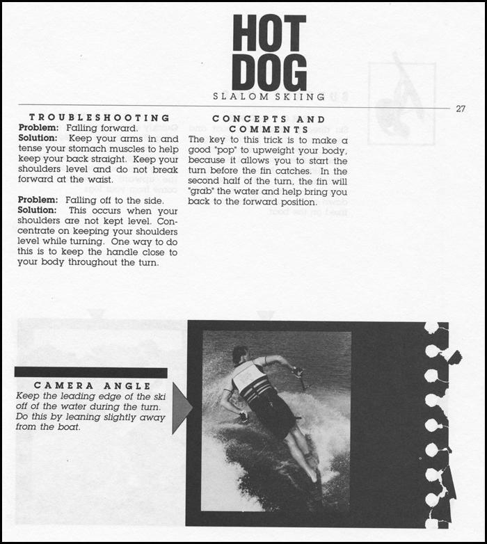 Hot Dog Water Skiing Klarich BF 180 3WR