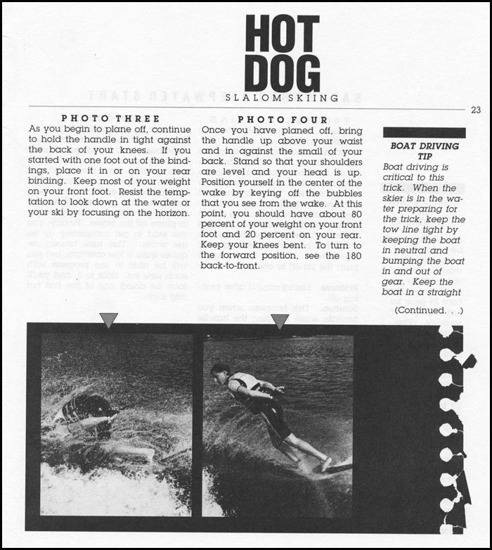 Hot Dog Water Skiing Klarich Back Deep 2WR