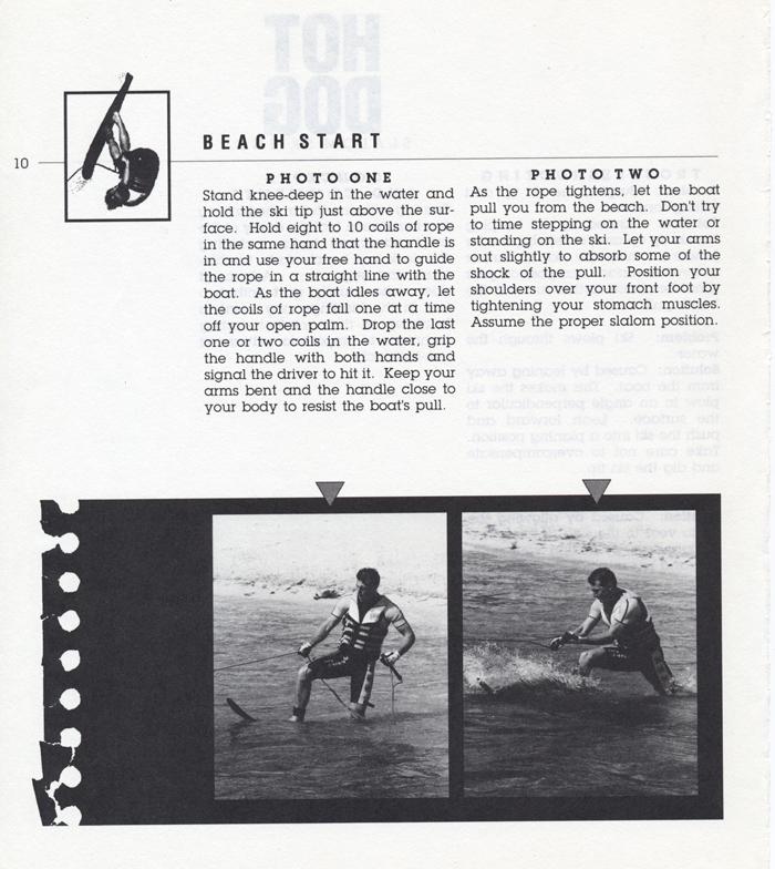 010 Hot Dog Slalom Skiing Book Klarich How To Beach Start 700x