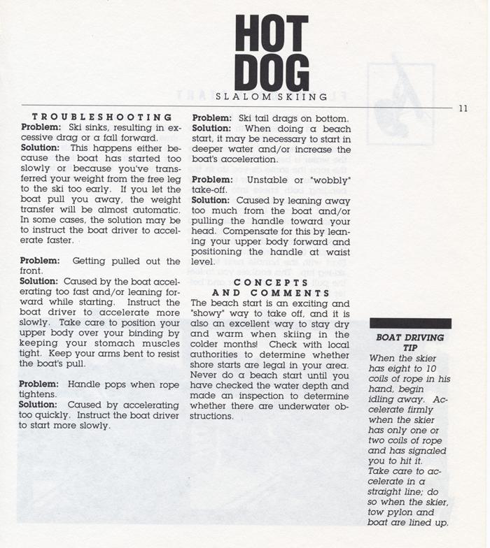 011 Hot Dog Slalom Skiing Book Klarich How To Beach Start 700x