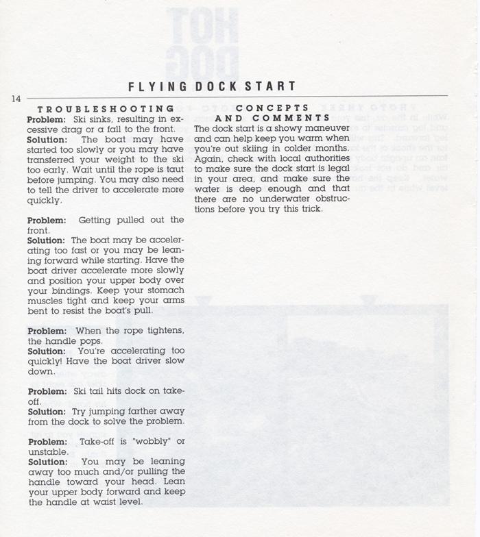 014 Hot Dog Slalom Skiing Book Klarich How To Dock Start 700x