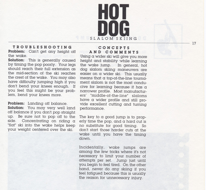 017 Hot Dog Slalom Skiing Book Klarich How To Dock Single Wake Jump 700x