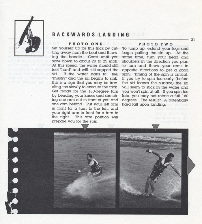 031 Hot Dog Slalom Skiing Book Klarich How To Backwards Landing 700x