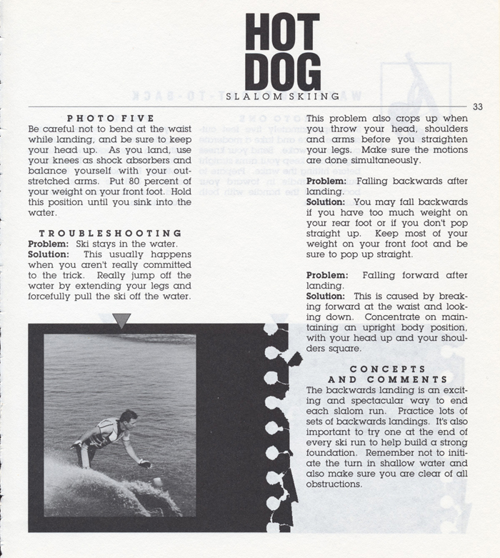 033 Hot Dog Slalom Skiing Book Klarich How To Backwards Landing 700x