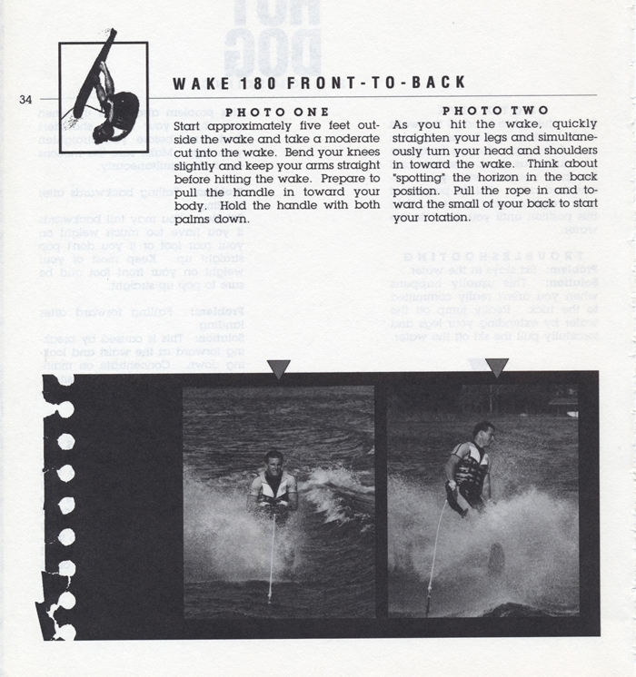 034 Hot Dog Slalom Skiing Book Klarich How To Wake 180 Front to Back 700x
