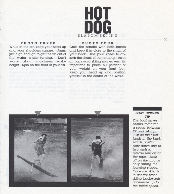 035 Hot Dog Slalom Skiing Book Klarich How To Wake 180 Front to Back 700x