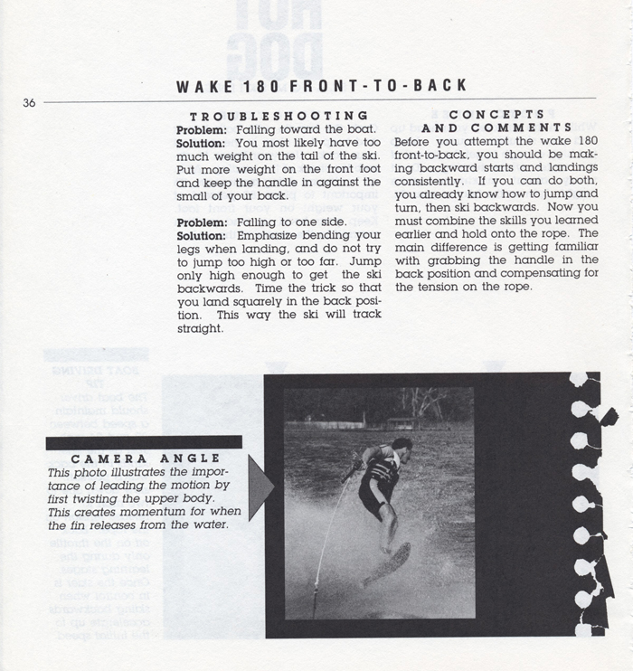 036 Hot Dog Slalom Skiing Book Klarich How To Wake 180 Front to Back 700x