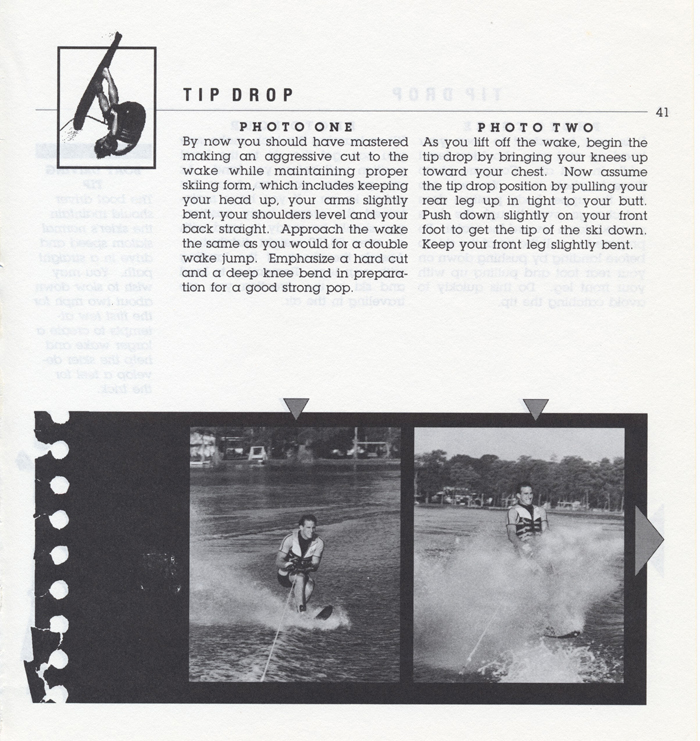 041 Hot Dog Slalom Skiing Book Klarich How To Tip Drop 700x