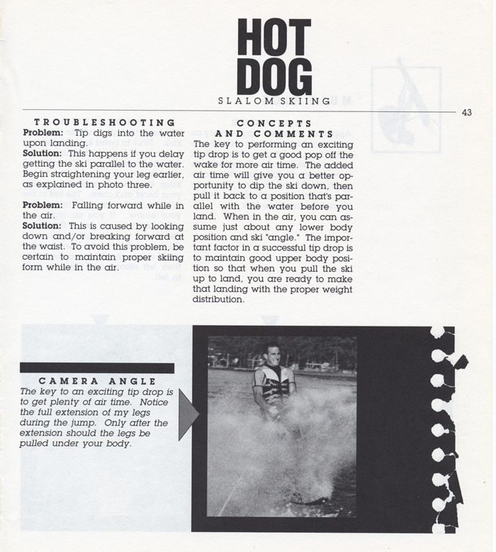 043 Hot Dog Slalom Skiing Book Klarich How To Tip Drop 700x
