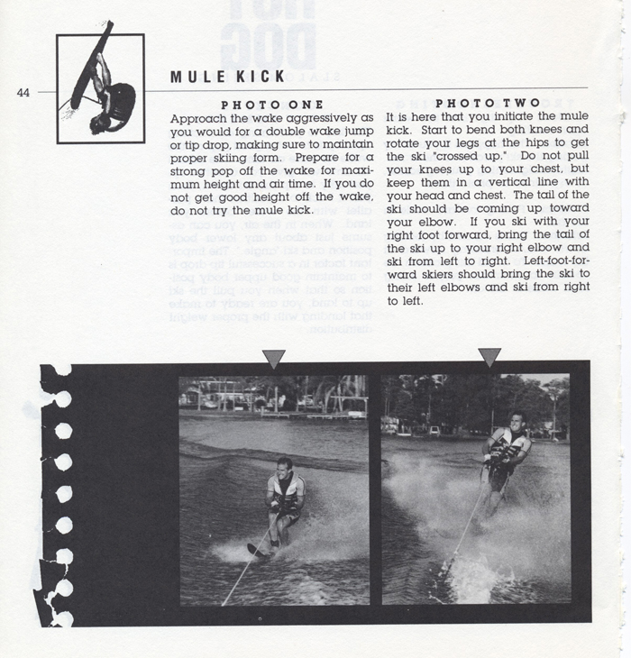 044 Hot Dog Slalom Skiing Book Klarich How To Mule Kick 700x