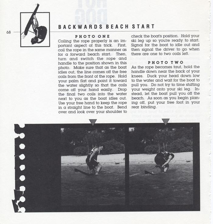 068 Hot Dog Slalom Skiing Book Klarich How To Backwards Beach Start 700x