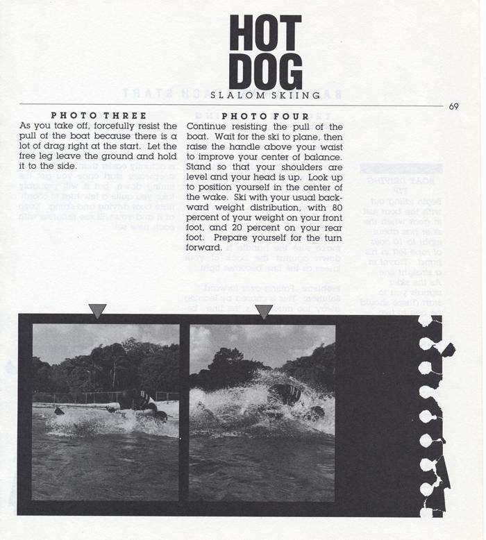 069 Hot Dog Slalom Skiing Book Klarich How To Backwards Beach Start 700x