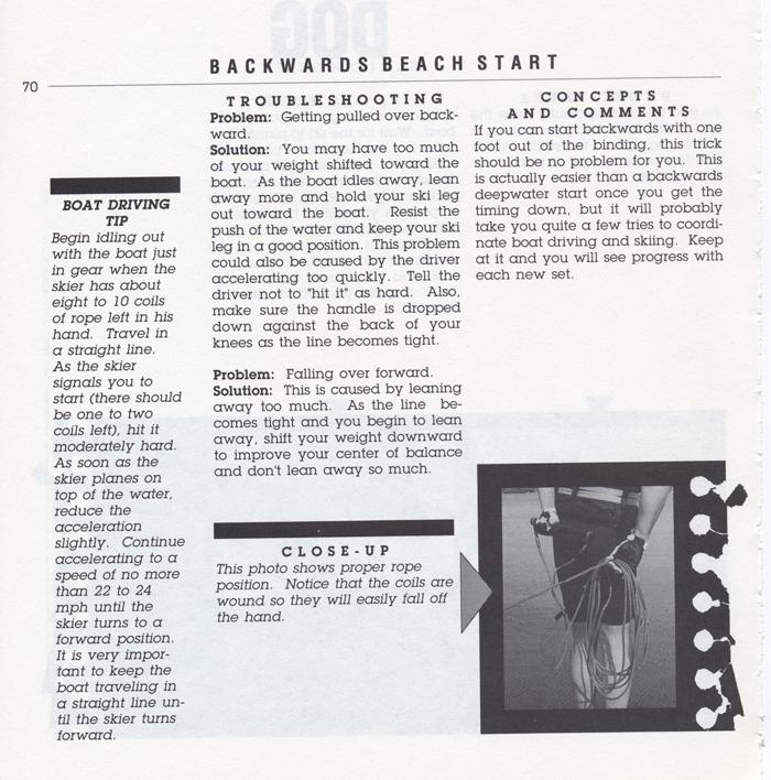 070 Hot Dog Slalom Skiing Book Klarich How To Backwards Beach Start 700x