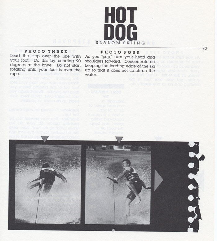 073 Hot Dog Slalom Skiing Book Klarich How To Back to Front Stepover 700x