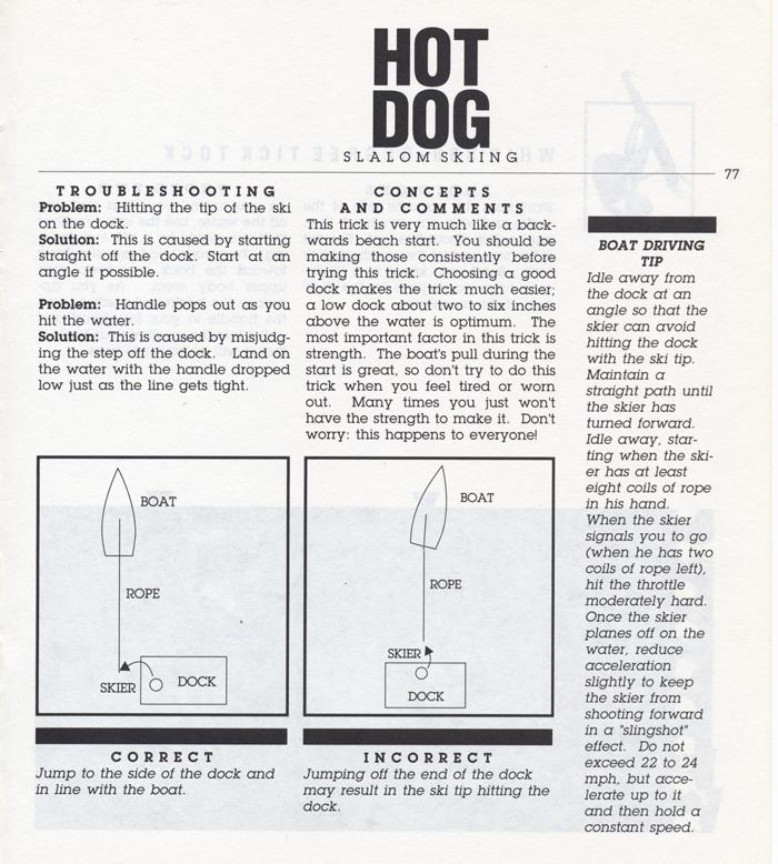077 Hot Dog Slalom Skiing Book Klarich How To Backwards Dock Start 700x