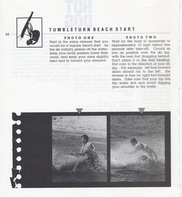 088 Hot Dog Slalom Skiing Book Klarich How To Tumbleturn Beach Start 700x