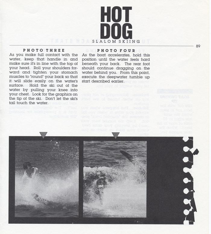 089 Hot Dog Slalom Skiing Book Klarich How To Tumbleturn Beach Start 700x