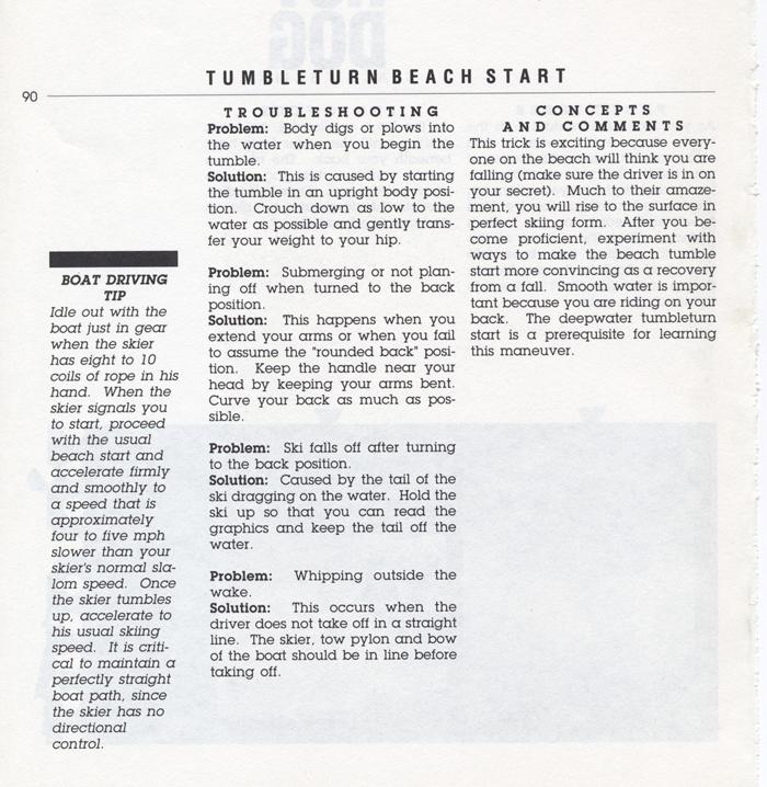 090 Hot Dog Slalom Skiing Book Klarich How To Tumbleturn Beach Start 700x