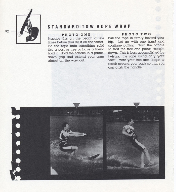 092 Hot Dog Slalom Skiing Book Klarich How To Wrap Rope 700x