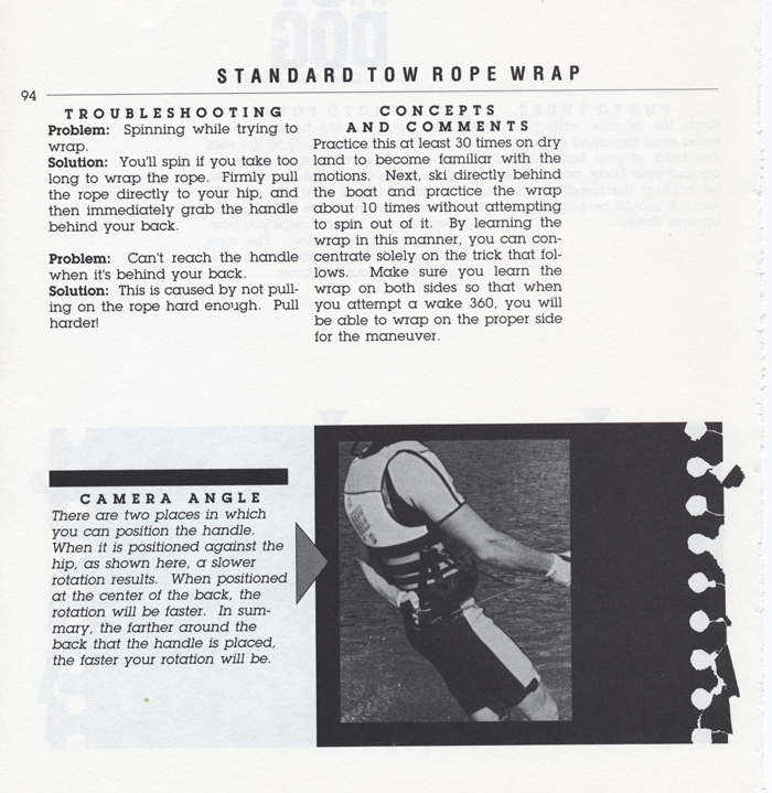 094 Hot Dog Slalom Skiing Book Klarich How To Wrap Rope 700x