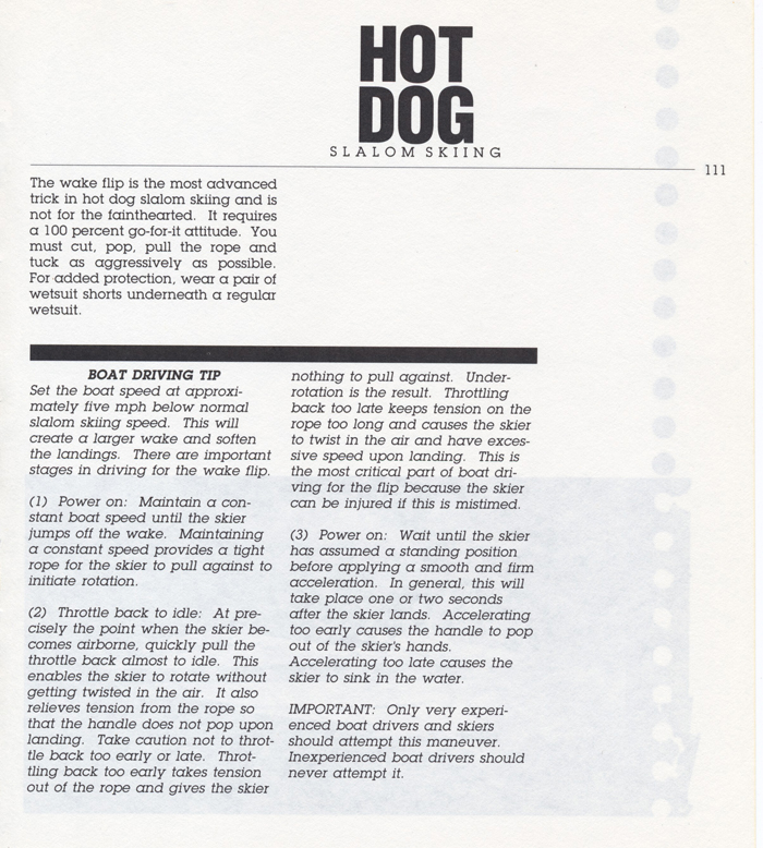 111 Hot Dog Slalom Skiing Book Klarich How To Front Flip 700x