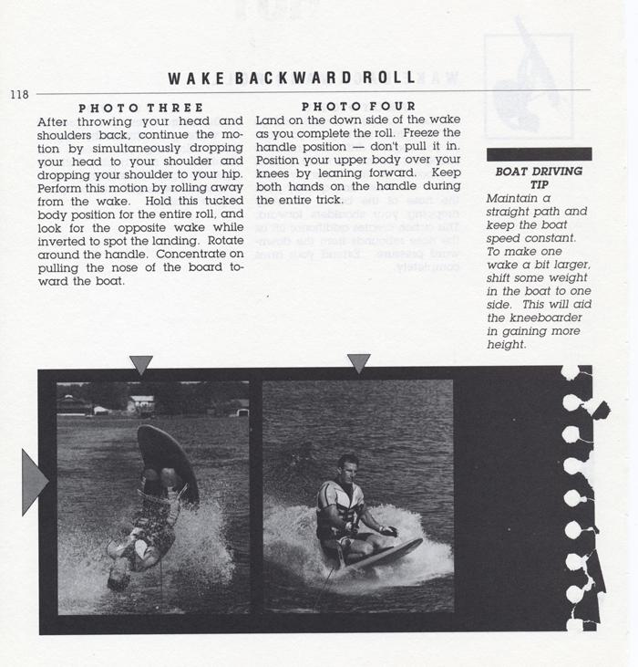 118 Hot Dog Slalom Skiing Book Klarich How To Kneeboard Wake Back Roll 700x