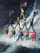 140701 Seaworld Superhero Pyramid Show Skiing SM