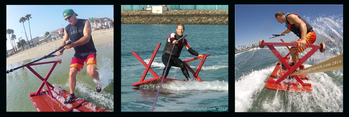140814 Picnic Table Wacky Water Skiing Klarich