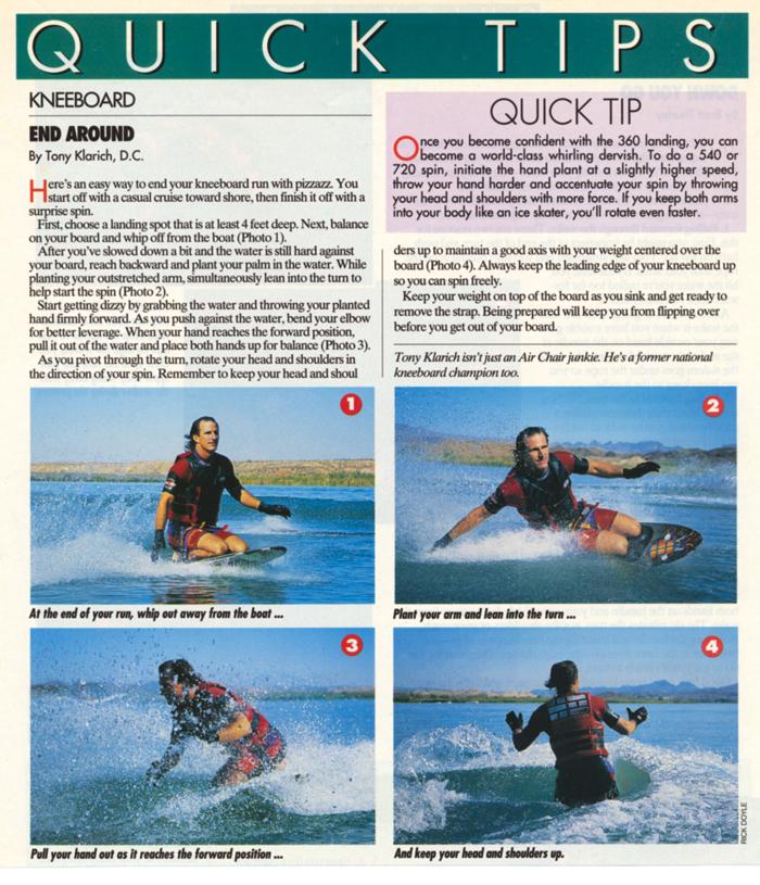 140822 Kneeboard 360 Landing Water Ski Magazine Klarich