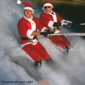 87 Barefooting Santas