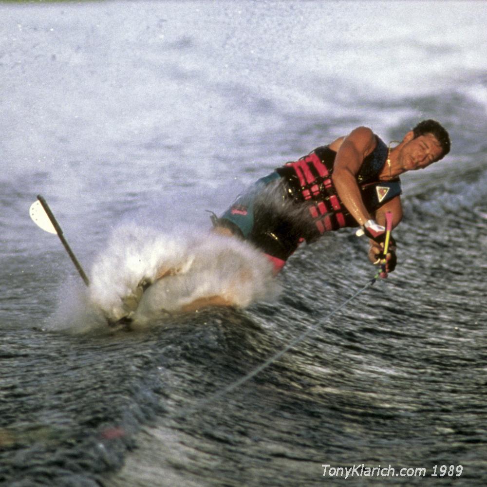 89 Benton Slalom Tip Crash