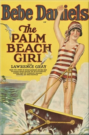 Palm Beach Girl movie poster starring Bebe Daniels on aquaplane