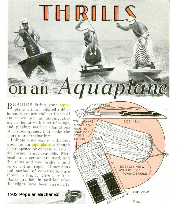 How to build an aquaplane by Popular Mechanics