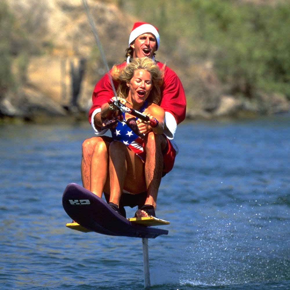 santa sky ski tandem water ski