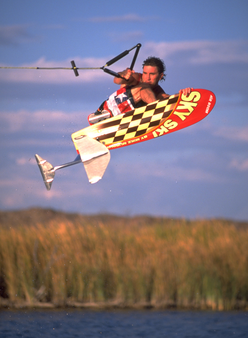 ron stack cross rocket stiff on sky ski hydrofoil air boom water skiing