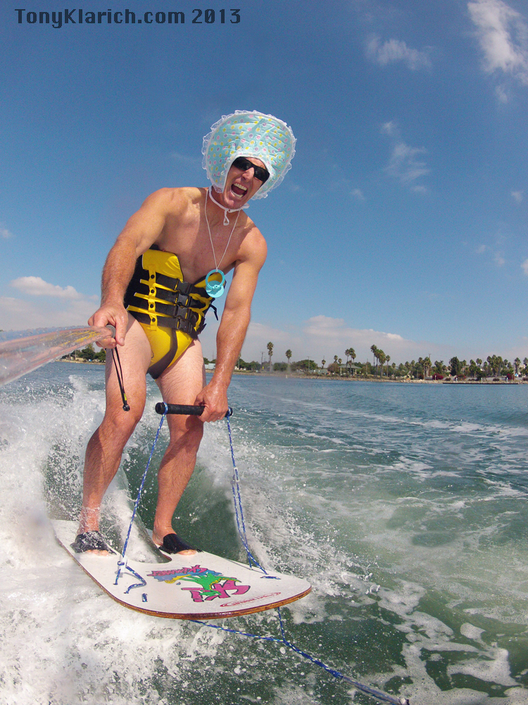 Baby New Year Water Skiing - Free Stock Images by Tony Klarich.