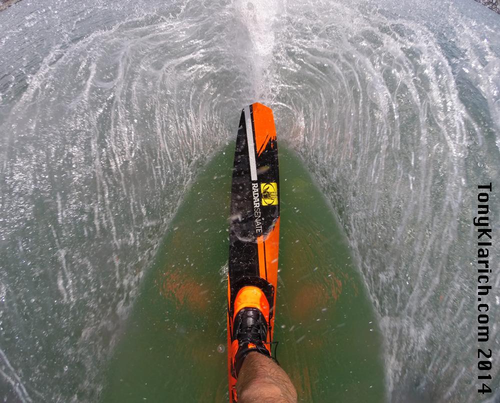 Slalom Water Skiing - Free Stock Images by Tony Klarich.