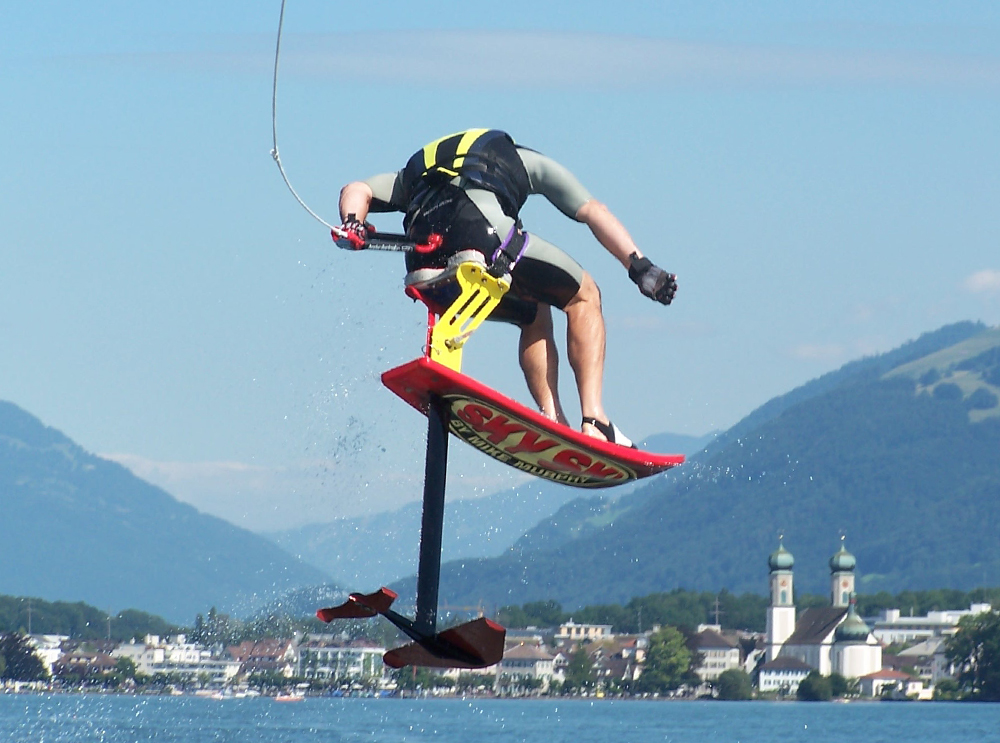 sky ski wake 360 lake zurich switzerland tony klarich