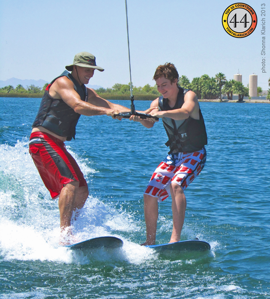 wakesurfing tandem tony k2 klarich colorado river water skiing fun joy