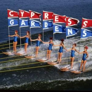 cypress gardens flag line girls red white blue