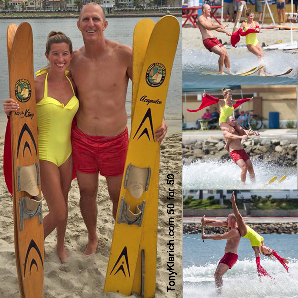 stacy norred tony klarich doubles water ski cypress gardens 50 for 50