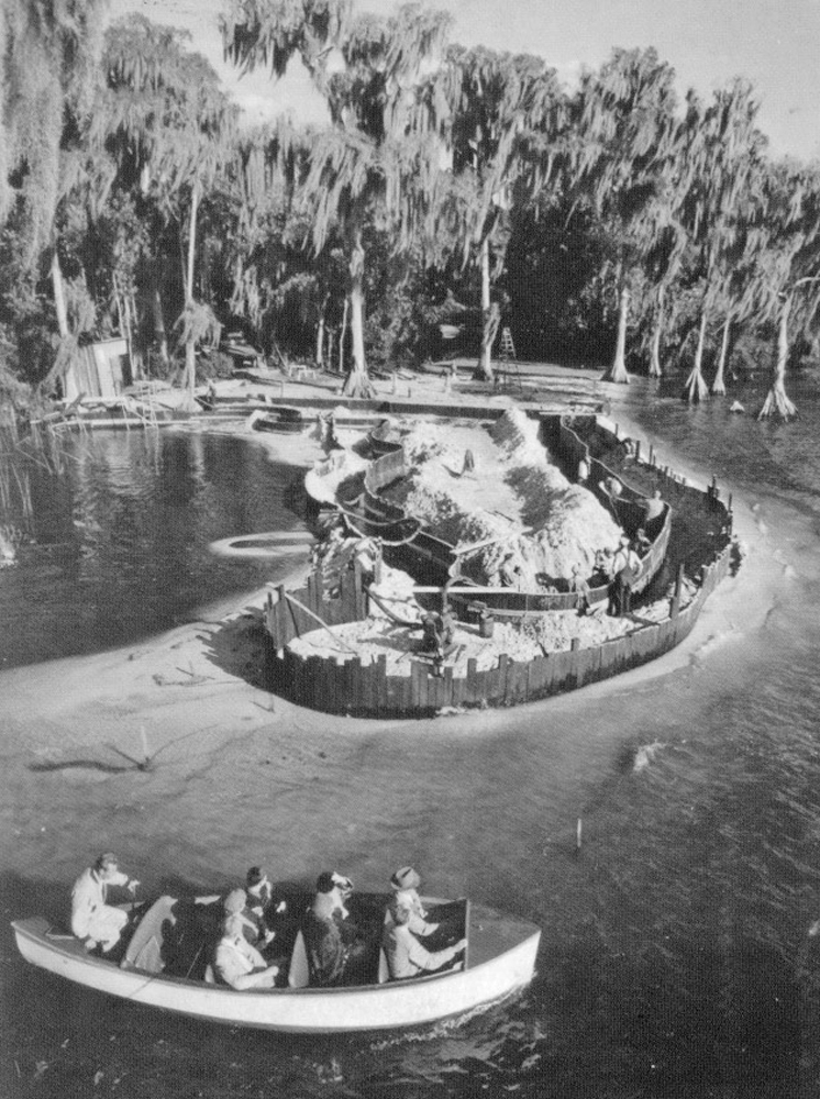 Florida Pool Cypress Gardens Under Construction